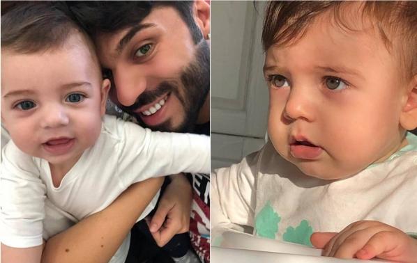 Фики сподели първи кадри със сина си