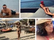 Родните звезди дефилират с първи плажни снимки от лято 2017