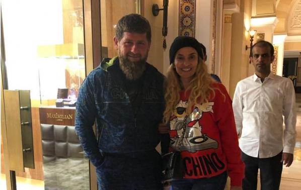 Малина на среща с лидера на Чеченската република
