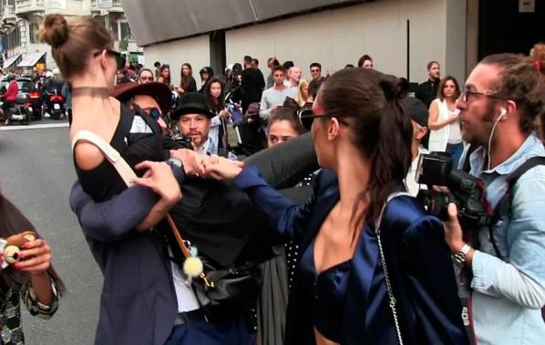 СНИМКИ Gigi Hadid бе нападната в Милано