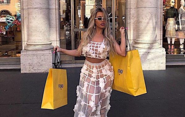 Гери-Никол на шопинг в Рим